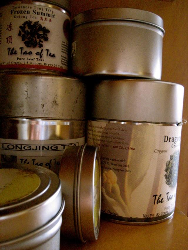 {tin tea canisters}